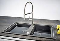 Двойная кухонная мойка Franke Basis BFG 620 графит