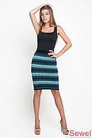 Модная вязаная осенняя юбка