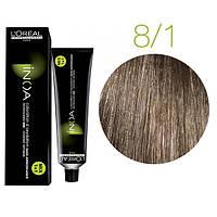 Краска для волос INOA-mix L'Oreal Pro 60 g 8.1 Светлый блондин пепельный