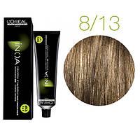 Краска для волос INOA-mix L'Oreal Pro 60 g 8.13 Светлый блондин пепельный золотистый