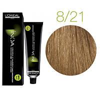 Краска для волос INOA-mix L'Oreal Pro 60 g 8.21 Светлый блондин перламутровый пепельный