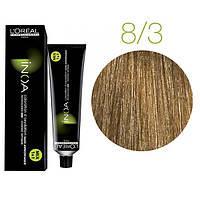 Краска для волос INOA-mix L'Oreal Pro 60 g  8.3 Светлый блондин золотистый