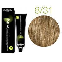 Краска для волос INOA-mix L'Oreal Pro 60 g 8.31 Светлый блондин золотистый пепельный