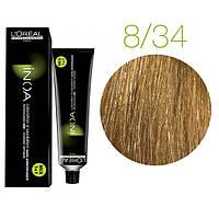 Краска для волос INOA-mix L'Oreal Pro 60 g 8.34 Светлый блондин золотистый медный