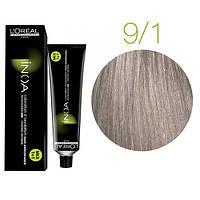 Краска для волос INOA-mix L'Oreal Pro 60 g 9.1 Очень светлый блондин пепельный