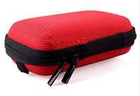 Чехол защитный для наушников и мелких аксессуаров прямоугольный на молнии КРАСНЫЙ SKU0000301, фото 1