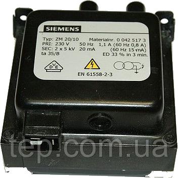 Високовольтний трансформатор Siemens ZM20/10 517 (ZM 20/10 517)