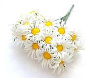 Цветы Ромашки Белые 2,5 см диаметр 10 шт/уп