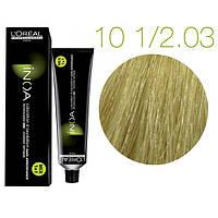 Краска для волос INOA-mix L'Oreal Pro 60 g 10 1/2.03 Очень светлый блондин золотистый