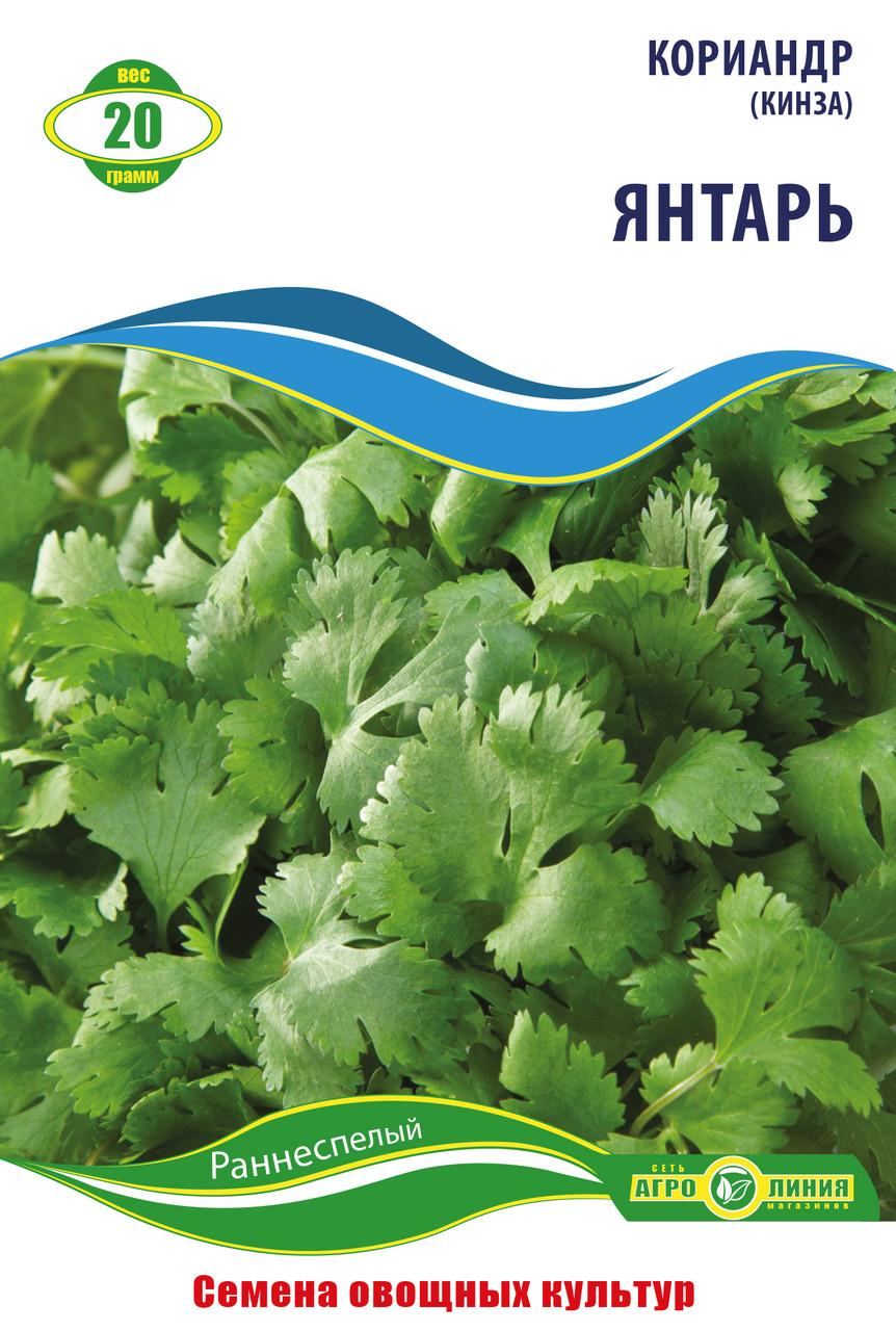 Семена кориандра сорт Янтарь (кинза) 20 г  Агролиния