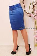 Яркая атласная юбка (в расцветках)
