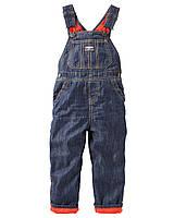 Зимний джинсовый комбинезон на флисовой подкладке для мальчика