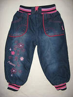 """Утепленные джинсы для девочки. """"Girls"""" р. 98"""