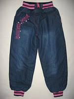 """Утепленные джинсы для девочки. """"Flowers"""" р. 122"""