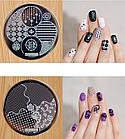 Диск для стемпинга, серия hehe, печать на ногтях , фото 3