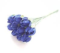 Цветы Подснежники Васильковые 1 см диаметр 10 шт/уп
