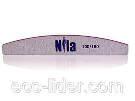 Пилочка для натуральных ногтей, Half 100/180, Nila.