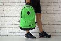 Рюкзак Nike, зеленый, с отделом для ноутбука