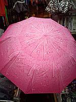 Розовый зонтик с каплями дождя