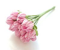 Цветы Подснежники Розовые 1 см диаметр 10 шт/уп