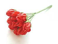 Цветы Подснежники Красные 1 см диаметр 10 шт/уп