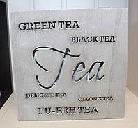 """Деревянная шкатулка для чая """"Чайный узор"""". Подарки в стиле Прованс"""