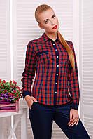 Женская блуза Шотландка2 д/р