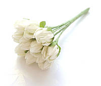 Цветы Подснежники Молочные 1 см диаметр 10 шт/уп
