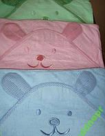 Полотенце детское махровое уголок для купания Ушки, фото 1