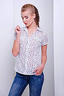 Блуза белая женская в размере XL XXL 3XL Якира к/р