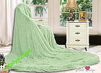 """Меховое покрывало на кровать """"East Comfort"""" Евро размер"""