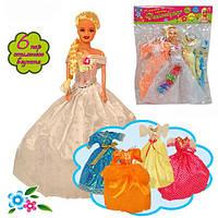 "Кукла типа ""Барби "" ""Дженнифер "" 888A/B-1 2 вида, с одеждой, аксесс., в пакете 29см"