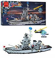 """Конструктор """"Brick """" 112 """"Военный корабль """" 970 деталей"""