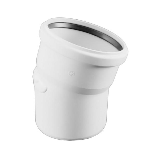 REHAU (РЕХАУ) RAUPIANO PLUS 50 - Отвод с раструбом и резиновым сальником