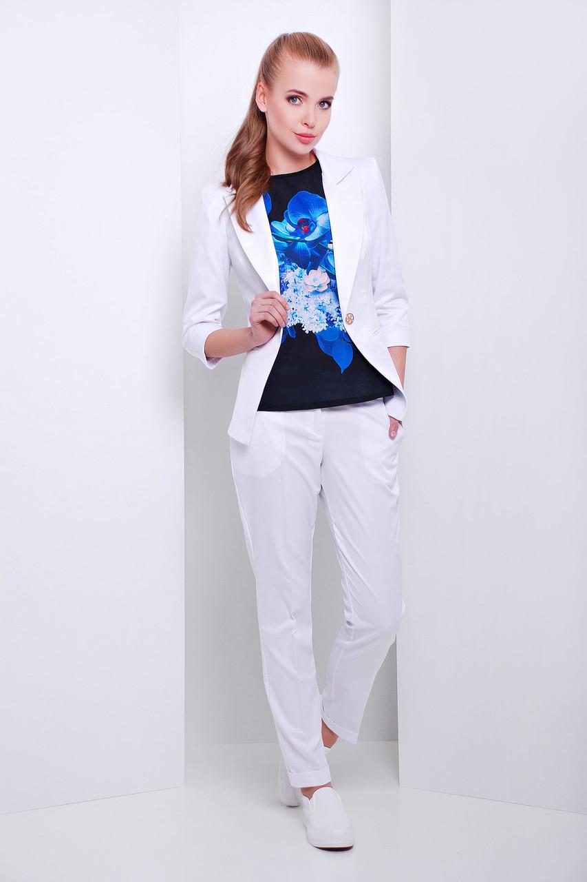 Женские белые стильные брюки Хилори