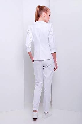 Женские белые стильные брюки Хилори, фото 2