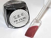 Цветной Уф Гель для дизайна и покрытия ногтей, Сливово-Коричневый, 8 мл.
