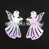 Пайетки Ангелочки, 7,5 см, перламутровые, набор 5шт