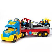Игрушечный эвакуатор с авто-багги 36630 Wader Super Truck