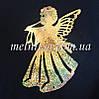 """Пайеточный декор  """"Ангел"""", 15 см, золото, голограмма, 1 шт"""