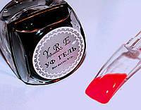 Кольоровий Уф Гель для дизайну і покриття нігтів, КОРАЛОВО-ЧЕРВОНИЙ, 8 мл., фото 1