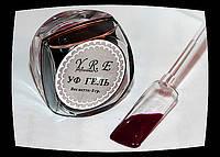 Цветной Уф Гель для дизайна и покрытия ногтей, ТЕМНО ФИОЛЕТОВЫЙ, 8 мл.