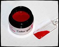 Гель для дизайна и покрытия ногтей, красный, 7 мл