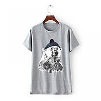 Стильная женская футболка- туника