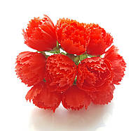 Цветы Пионы Красные 2.5 см диаметр 10 шт/уп, фото 1