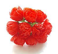 Цветы Пионы Красные 2.5 см диаметр 10 шт/уп