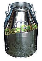 Бидон для молока, 20 л., нержавеющая сталь