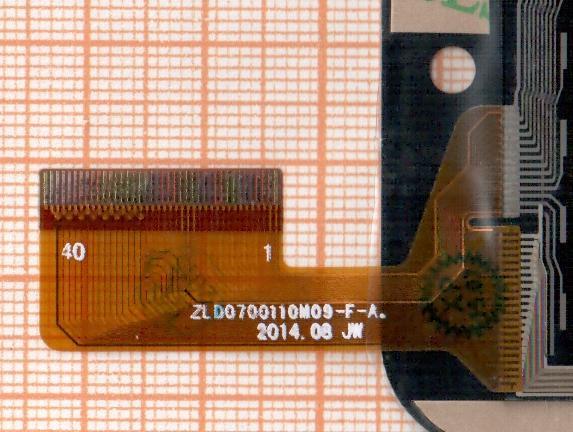 Bright&Quick BQ 7001G сенсор (тачскрин)