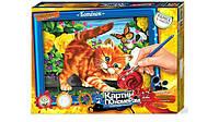 "Картина по номерам большая 01-05 Danko toys ""Котёнок"" (32,0 х 23,0 см.)"