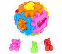 Логический куб-сортер,с животными 50-102